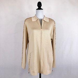 NWOT Escada cream knit jacket